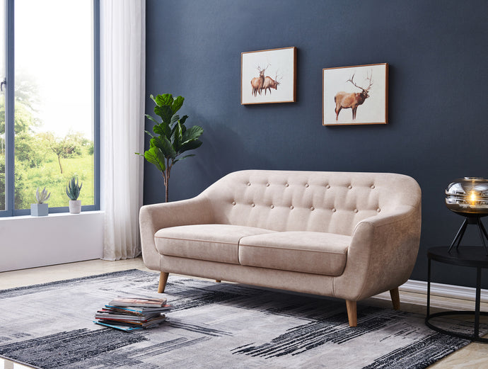 Contemporary Modern Sofa, Fabric, 67