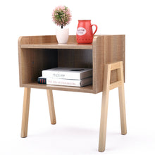 Load image into Gallery viewer, Sofa End Side Table Bedside Table Nightstand Wooden Bedroom Furniture with Shelf