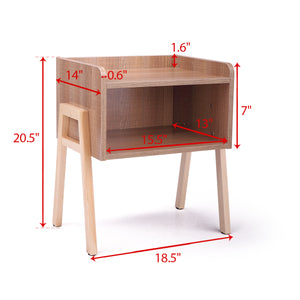 Sofa End Side Table Bedside Table Nightstand Wooden Bedroom Furniture with Shelf