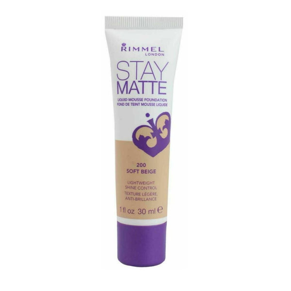 201 Classic Beige - Rimmel Stay Matte Liquid Mousse Foundation 30mL