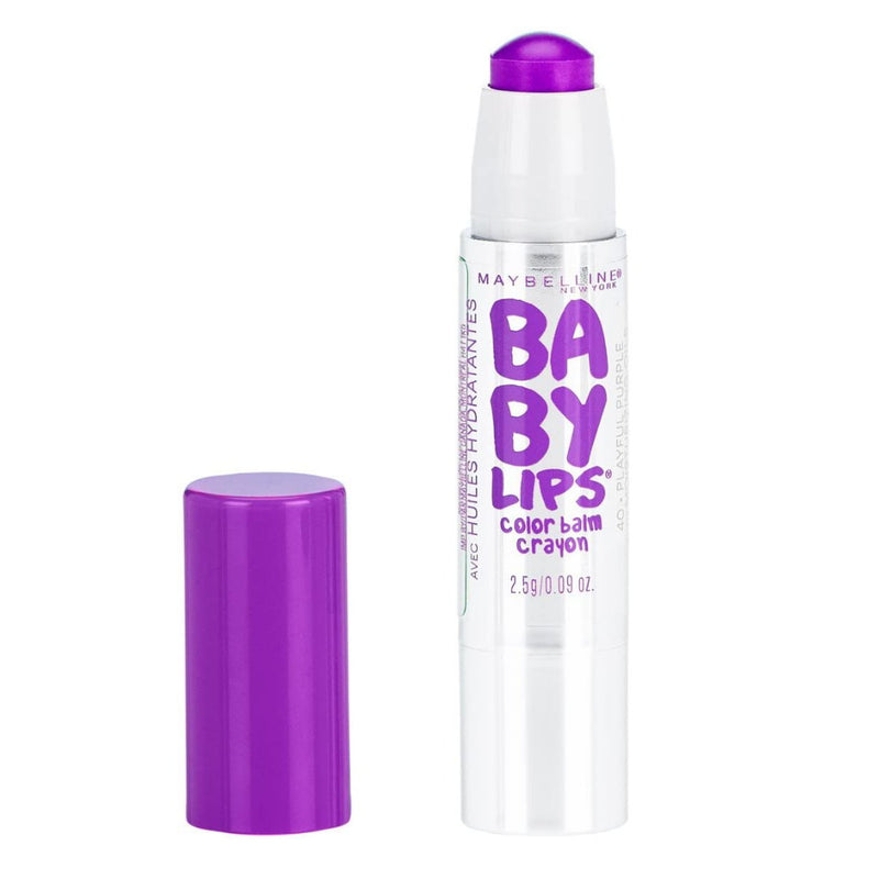 2x Maybelline Baby Lips Color Balm Crayon Lipgloss - 40 Playful Purple
