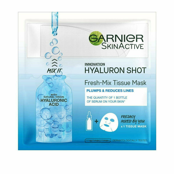 Garnier Skinactive Fresh Mix Tissue Mask Hyaluronic Shot Plumps & Smoothes 33mL