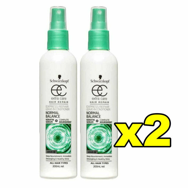 2x Schwarzkopf Extra Care Leave In Conditioner Normal Balance - Hair Repair