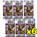 6x Schwarzkopf Live Salon Gloss Hair Colour 7.16 Truffle Blonde
