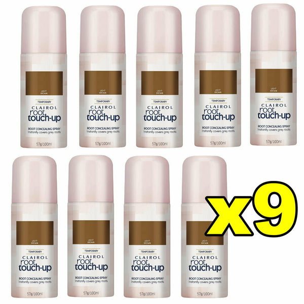 9x Clairol Root Touch Up Root Concealing Spray - Light Brown