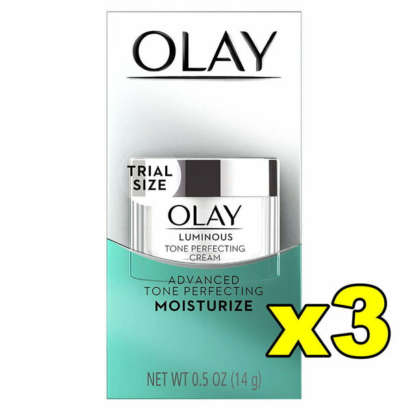 3x Olay Luminous Tone Perfecting Face Cream Moisturiser 14g