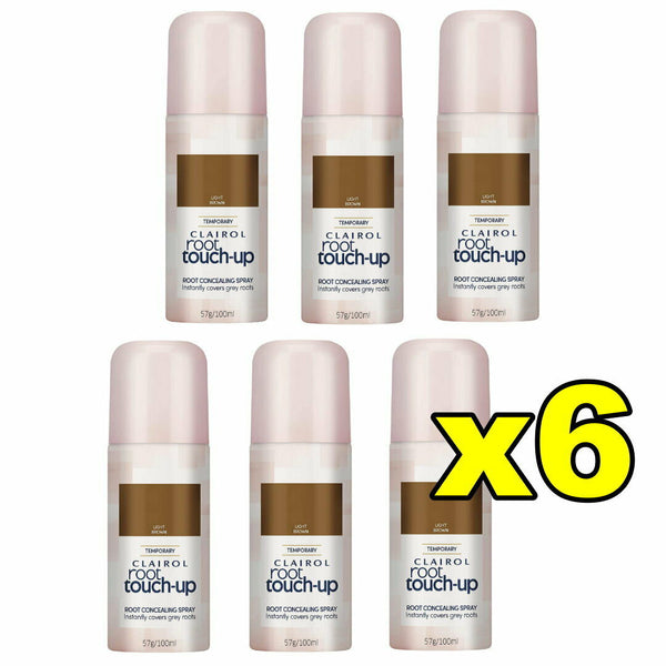 6x Clairol Root Touch Up Root Concealing Spray - Light Brown