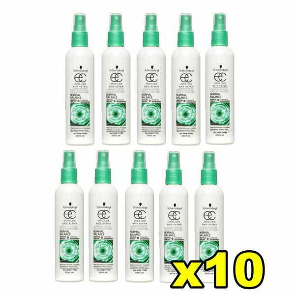 10x Schwarzkopf Extra Care Hair Repair Leave In Conditioner Normal Balance