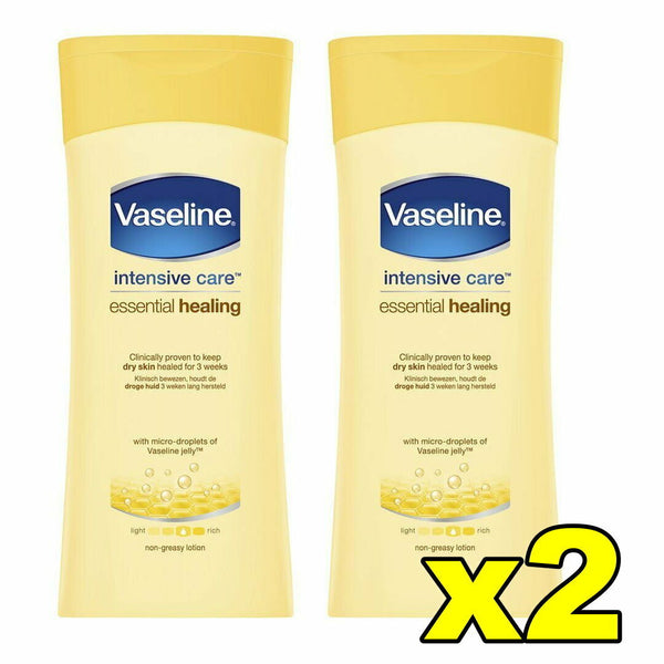 2x Vaseline Intensive Care Essential Healing Moisture Conditioning Lotion 200mL