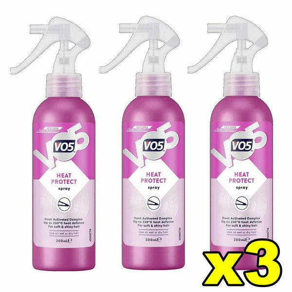 3x VO5 Heat Protect Spray 200mL Hair Styling