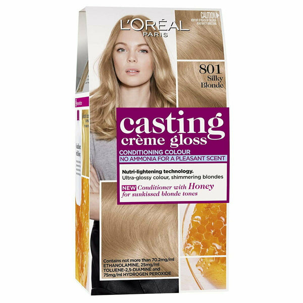 801 Siky Blonde - LOreal Casting Creme Gloss Conditioning Hair Colour