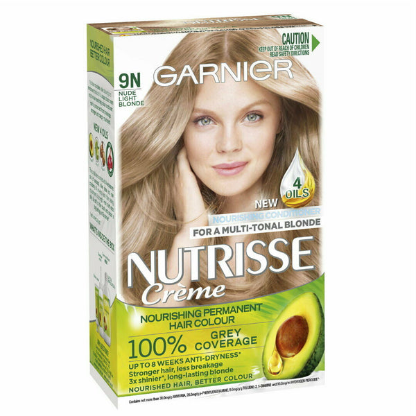 Garnier Nutrisse Creme Permanent Hair Colour 9N Nude Light Blonde