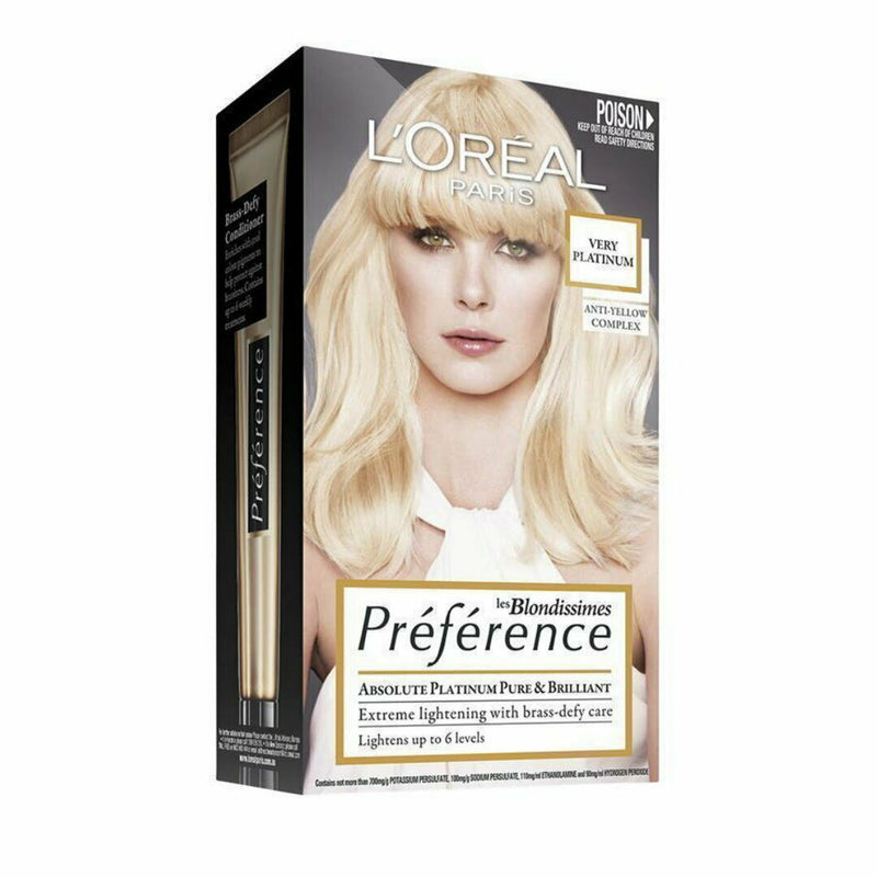 LOreal Preference Extreme Lightening Permanent Hair Colour - Very Platinum