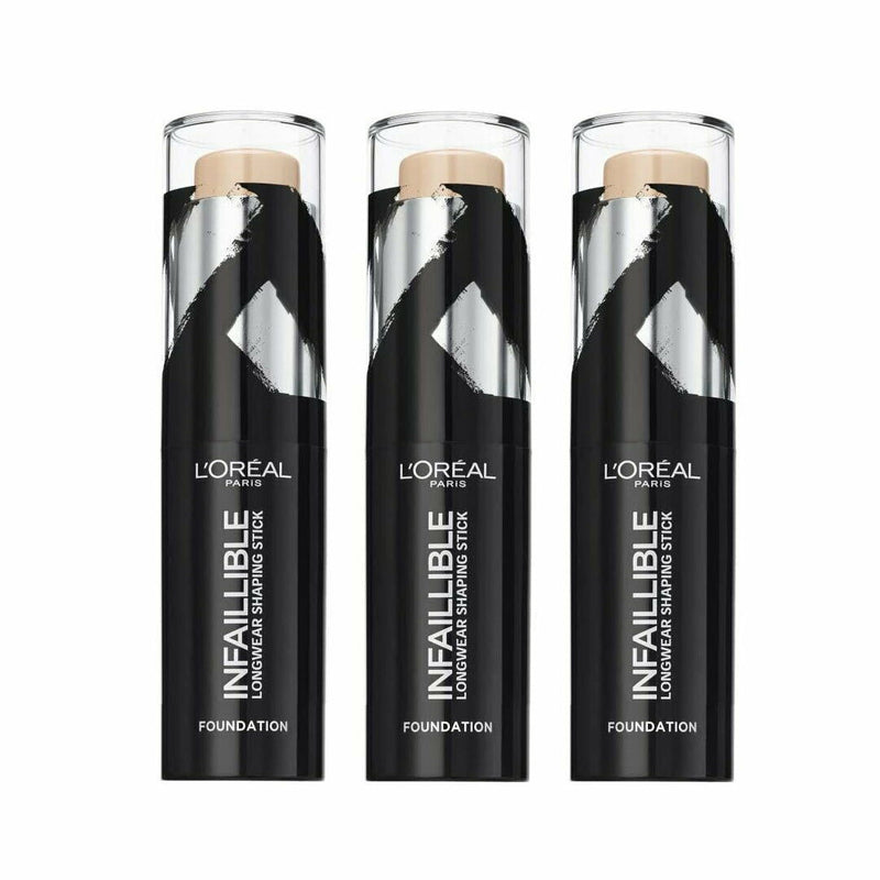 3x LOreal Infaillable Longwear Shaping Highlighter Stick - 160 Sand