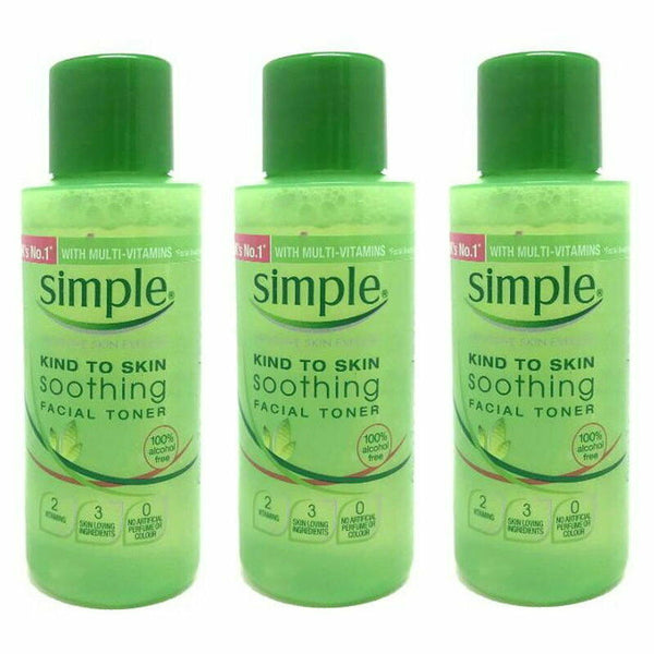 3 x Simple Soothing Facial Toner 50ml ️Face Care