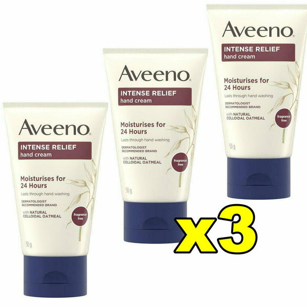Aveeno Intense Relief Hand Cream 50g Moisturises for 24 Hours