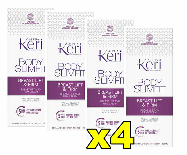 4x Alpha Keri Body Slimfit Breast Lift and Firm Cream 200mL