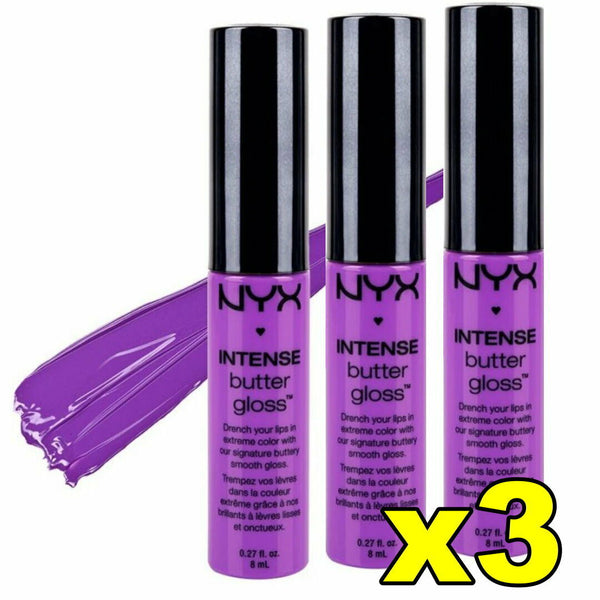 3 x NYX Intense Butter Gloss Lipgloss 8ml BERRY STRUDEL