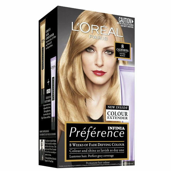 LOreal Infinia Preference Permanent Hair Colour - 8 California Natural Blonde