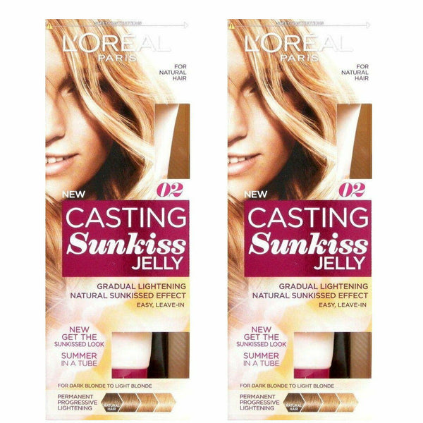 2x LOreal Casting Sunkiss Jelly Permanent Lightening 02 Dark Blonde to Light Blonde