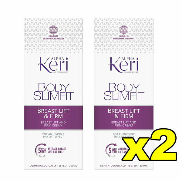 2x Alpha Keri Body Slimfit Breast Lift and Firm Cream 200mL