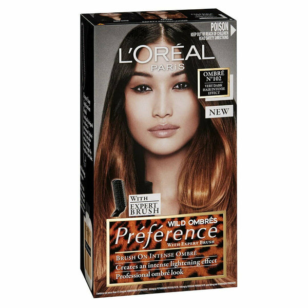 No 102 Very Dark - LOreal Wild Ombre Preference Permanent Hair Colour