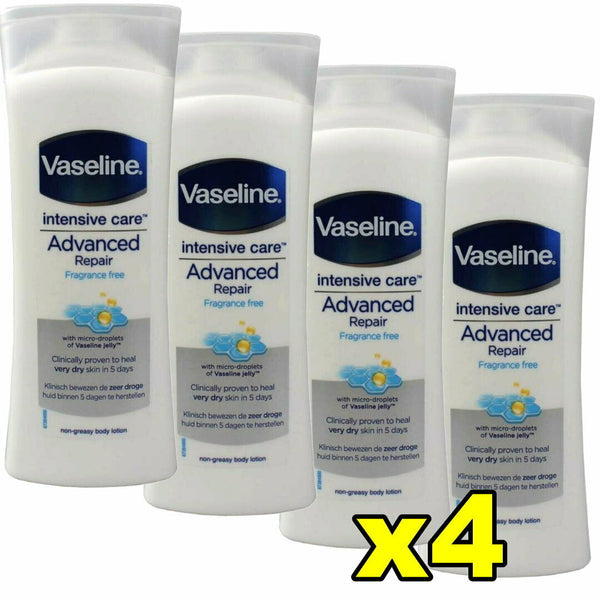 4x Vaseline Intensive Care Lotion Advanced Repair 400mL