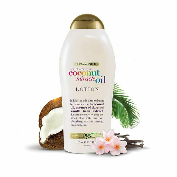 OGX Extra Creamy Coconut Miracle Oil Lotion, Ultra Hydrating Body Lotion 577mL