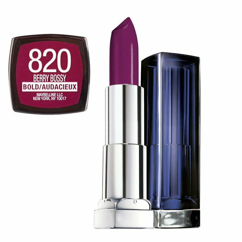2x Maybelline Color Sensational Lipcolour Lipstick - 820 BERRY BOSSY