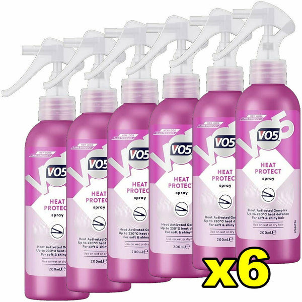 6x VO5 Heat Protect Spray 200mL Hair Styling