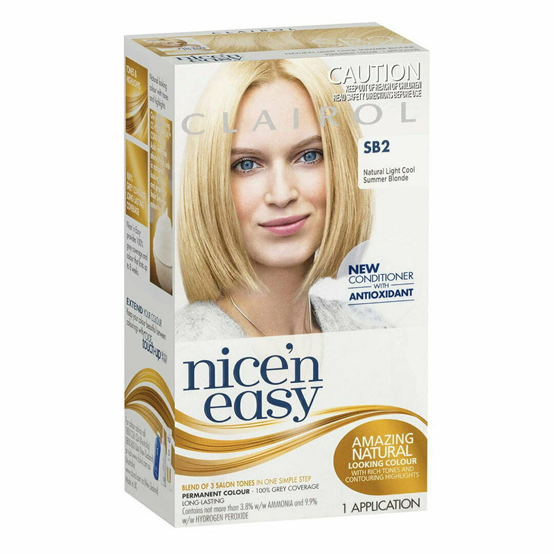 6x Clairol Nice N Easy Hair Colour - SB2 Natural Light Cool Summer Blonde