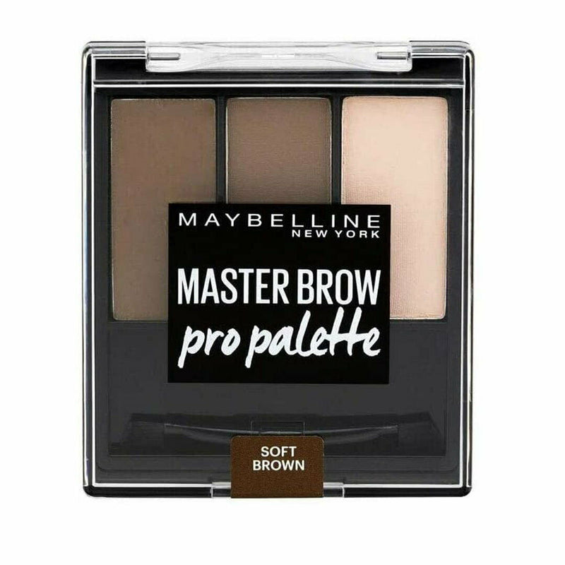 3x Maybelline Master Brow Pro Palette - 80 Soft Brown