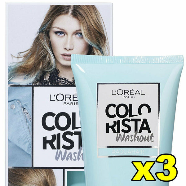 3x LOreal Colorista Washout for Blonde Highlighted Aqua Hair
