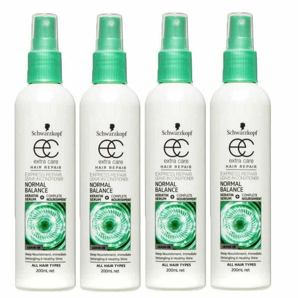 4x Schwarzkopf Extra Care Leave In Conditioner Normal Balance Hair Repair