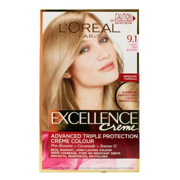 LOreal Excellence Creme Hair Colour - 9.1 Light Ash Blonde