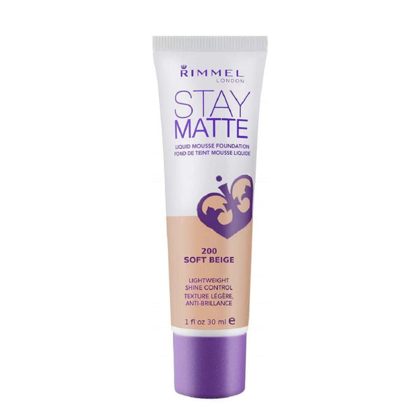 Rimmel Stay Matte Liquid Mousse Foundation 30mL 200 SOFT BEIGE
