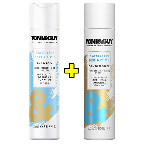 Toni & Guy Smooth Definition 1x Shampoo plus 1x Conditioner (2 Bottles)