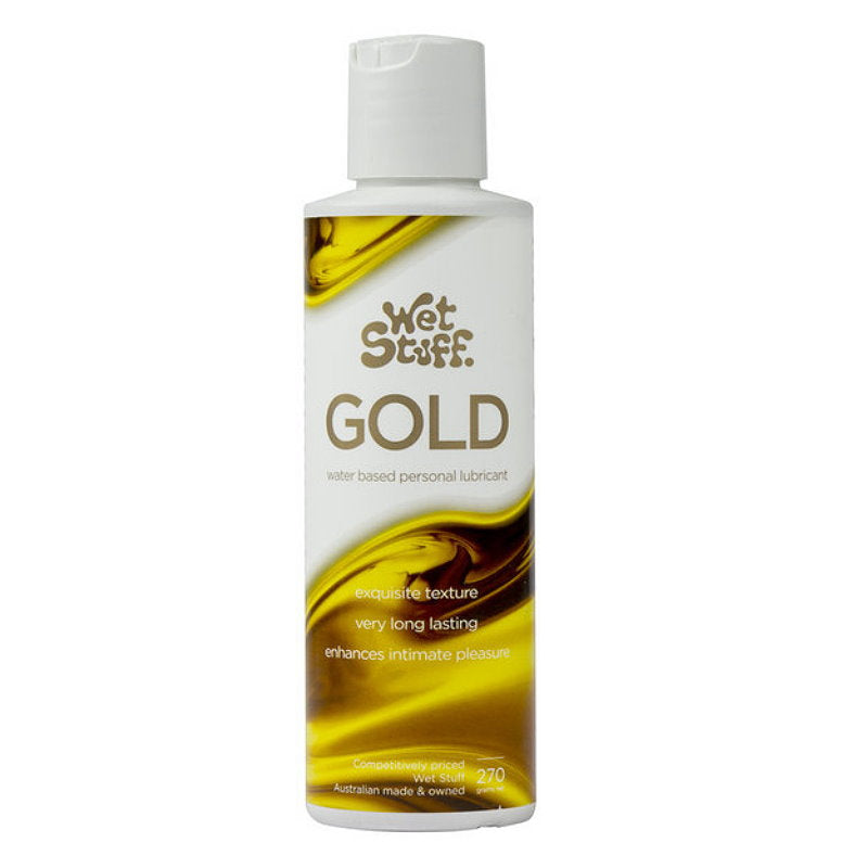 3x Wet Stuff Gold Water Based Personal Lubricant 270g