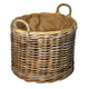 Large Round Wheeled Log Basket