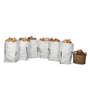 Kiln Dried Firewood Barrow Bag (from £17.25/bag - 5 or 6 Units per Pallet)