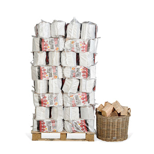 Kiln Dried Firewood Bags Pallet (from £2.26/bag - 80 Units per Pallet)