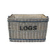 "Large ""LOGS"" Basket with Rope"