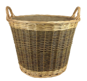 Large unpeeled log basket
