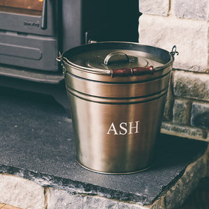 Pewter Ash Bucket with Lid