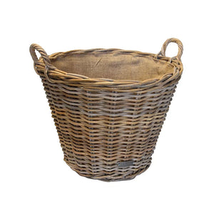 Traditional Lined Log Basket