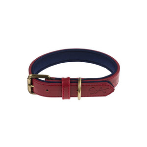 Stamped Design Collar - Red