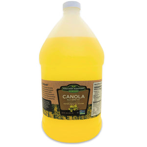Healthy Harvest Canola Oil - Non-GMO Certified with Antioxidants and Omega-3s {One Gallon - 128 oz.}