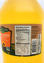 Load image into Gallery viewer, Healthy Harvest Non-GMO Sunflower Oil - Healthy Cooking Oil for Cooking, Baking, Frying & More - Naturally Processed to Retain Natural Antioxidants {One Gallon}