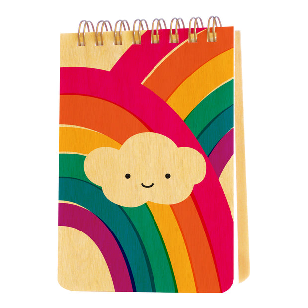 Night Owl Paper Goods - Puffy Cloud Wood Mini Notepad
