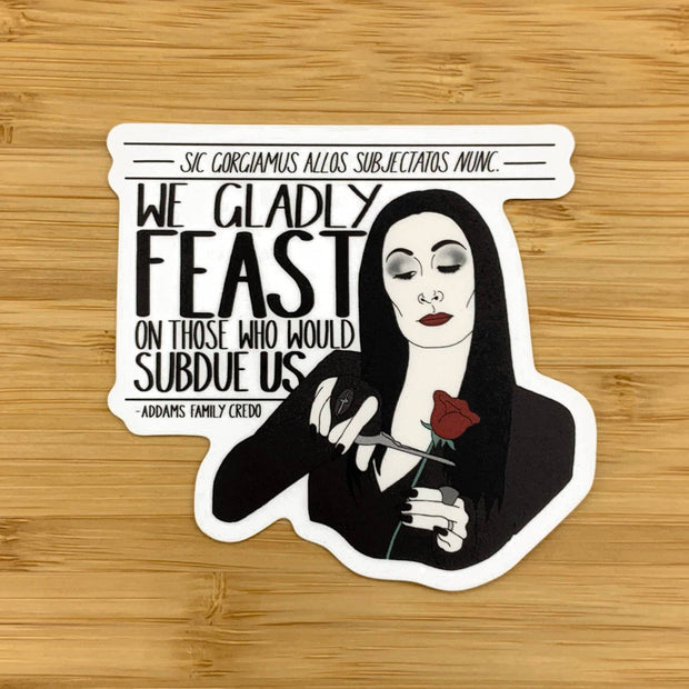 Citizen Ruth - Morticia family credo sticker